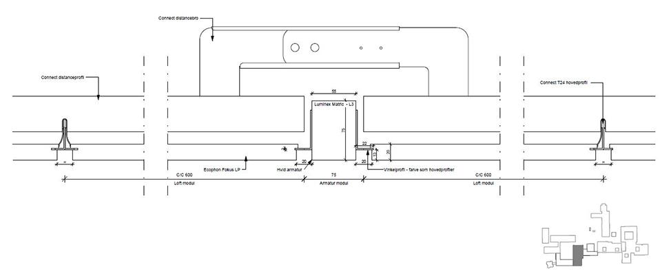 Monteringsvejledning for Matric indbygget i loft - Luminex