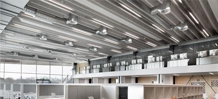 Indbygget lamper i studiemiljø - Luminex