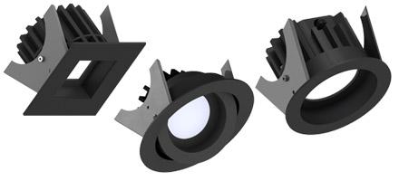 Sorte Illuxtron downlight lamper - Luminex