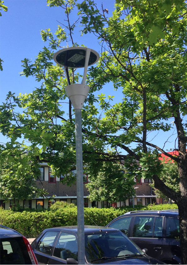 Kalos på parkeringsplads hos TEC i Hvidovre - Luminex