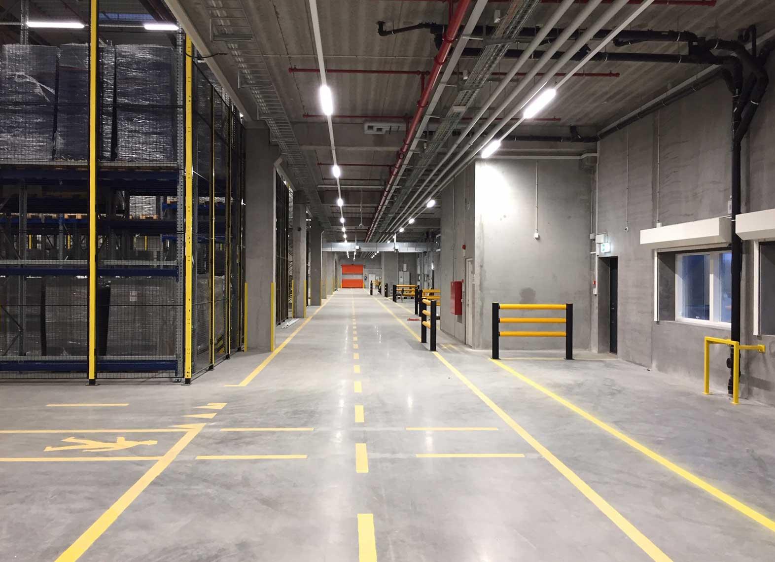Nomeco i Køge, Linia i skinnesystem på lageret