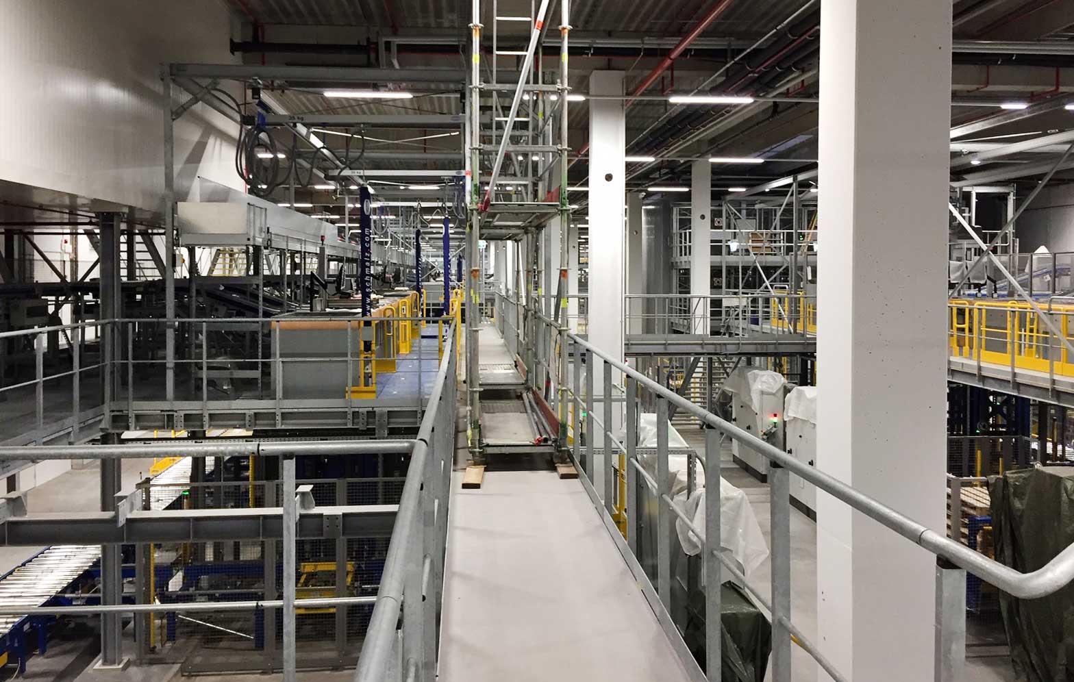 Nomeco i Køge, Linia i skinnesystem i produktionen
