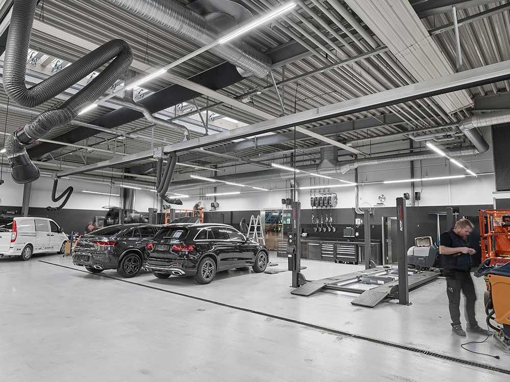 Ejner Hessel i Herning, LINIA i skinnesystem på værksted