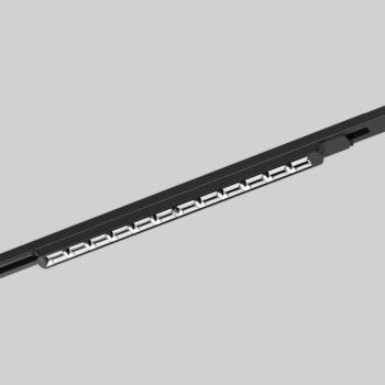 3 Phase Track Linear Light monteret i skinne - Luminex