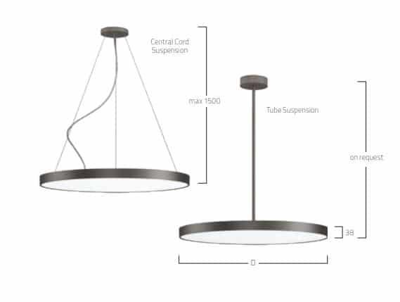 Basic Neo Suspended G5 P5 lampe MÅL