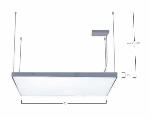 Cubic Max Suspended G2 P2 lampe MÅL