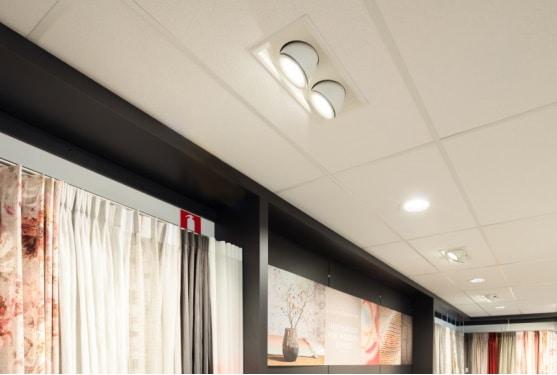 Curion 185, Linea 185, Linea ds-at 4 lampe indbygget i loft i butik - Luminex