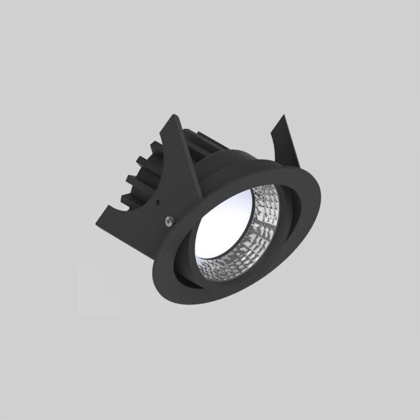 Curion 90 Black kipbar downlight lampe - Luminex