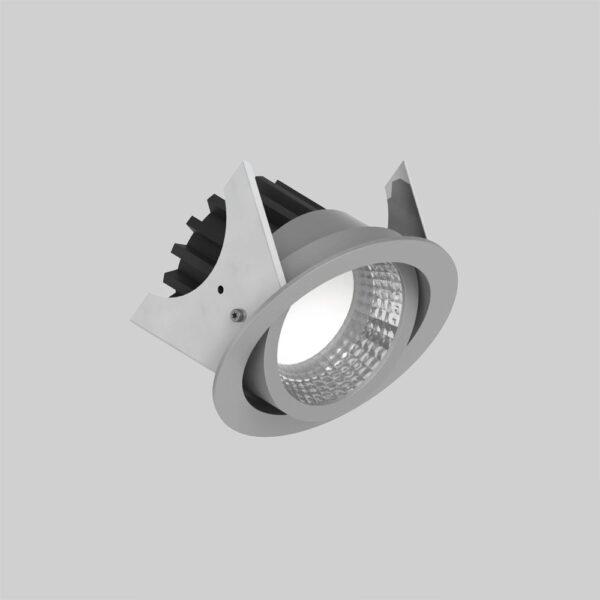 Curion 90 Grey kipbar spotlight lampe - Luminex