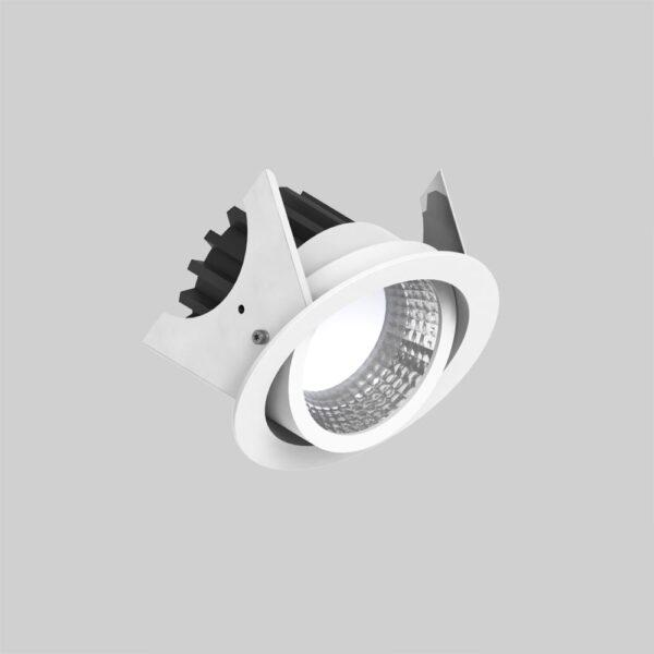 Curion 90 White kipbar downlight lampe - Luminex