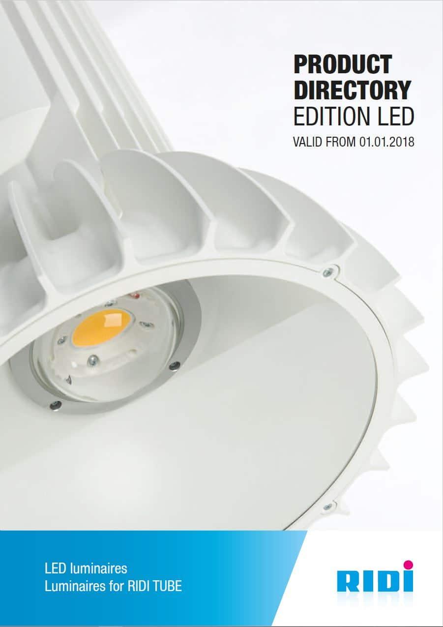 Katalog forside produkter fra RIDI - Luminex