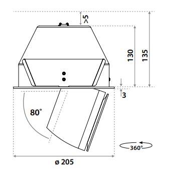 Linea DS-A 195 Adjustable MÅL - Luminex