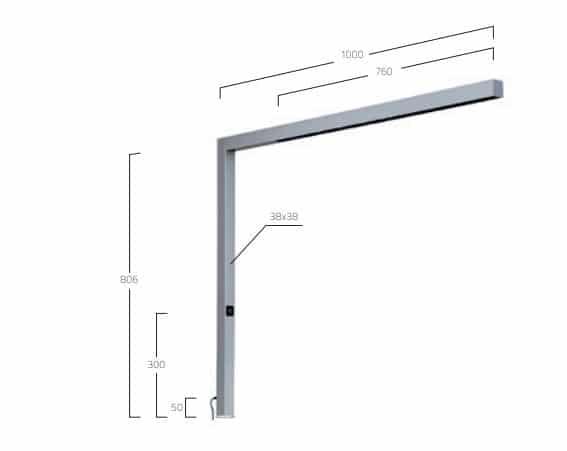 Matric 38MM Lens Louver Table T1 lampe MÅL