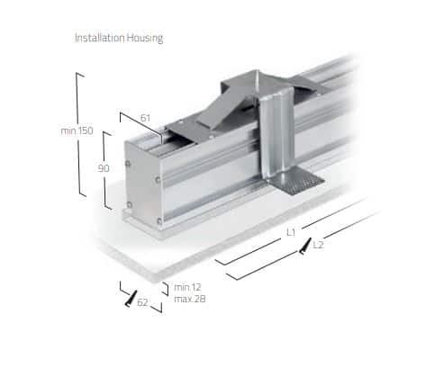 Matric 38mm Recessed Frameless M1 lampe MÅL 1