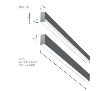 Matric 38mm Surface A1 lampe MÅL 1