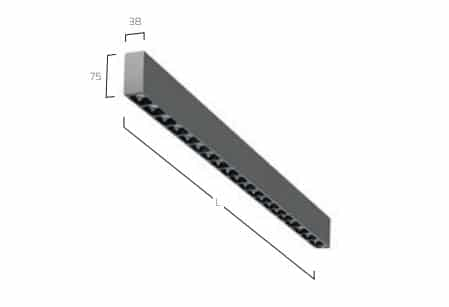 Matric 38mm Surface A1 lampe MÅL 2
