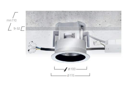 Midpoint Recessed F7 lampe MÅL