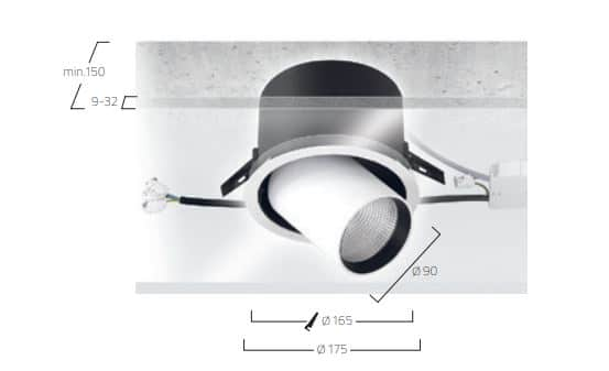 Midpoint Recessed M6 lampe MÅL