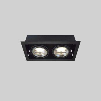 Trimless Fixture Recessed 2xAR111 lampe uden lyskilde - Luminex