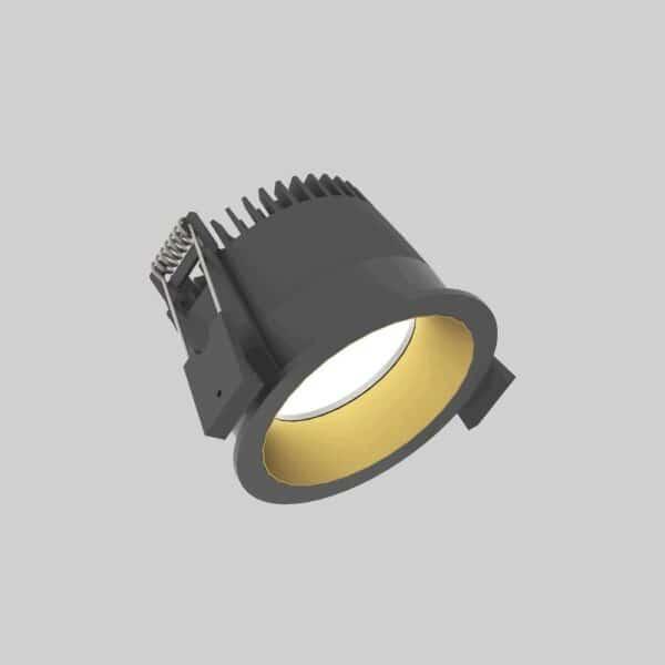 Strada 75 Black Gold Downlight lampe - Luminex