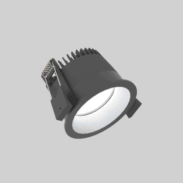 Strada 75 Black Silver Downlight lampe - Luminex