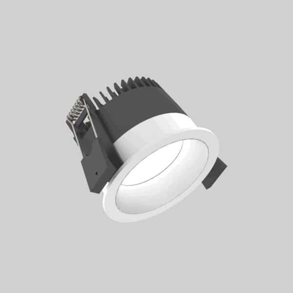 Strada 75 White Silver Downlight lampe - Luminex