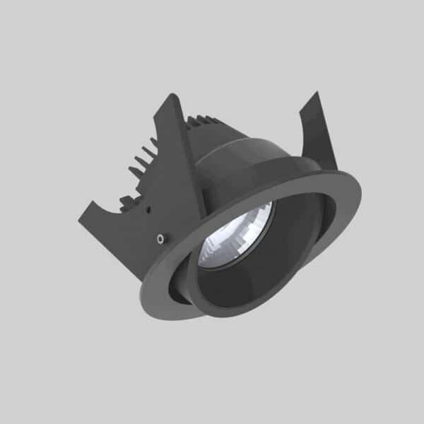 Strada 90 Black Black Downlight lampe - Luminex