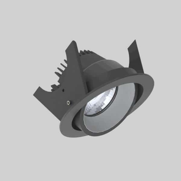 Strada 90 Black Silver Downlight lampe - Luminex