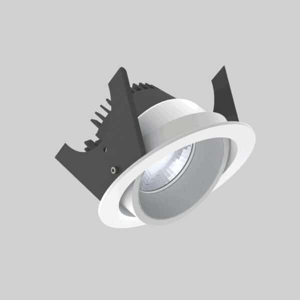 Strada 90 White Silver Downlight lampe - Luminex